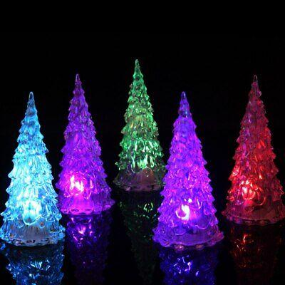 LED Night Light LED Crystal Color Changing Mini Christmas Tree Lamps Home Light