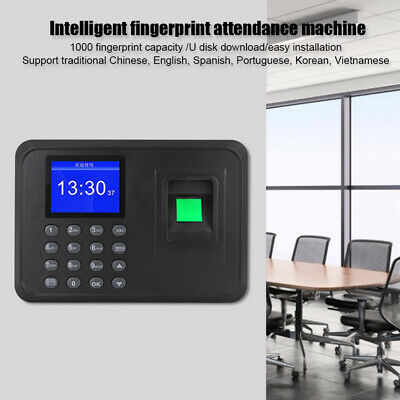 Employee Attendance Punch Time Clock Recorder Lcd Time Recorder System