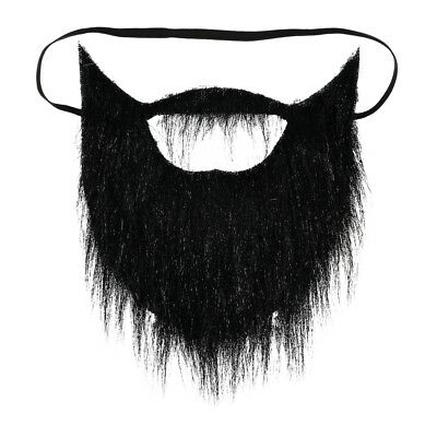 Dress Up America Fake Beard for Men- with Elastic Strap and Mustache - Fake Moustache And Beard
