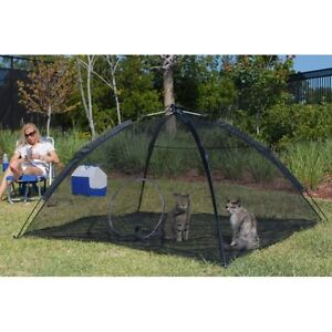 Happy-Habitat-Pop-Up-Mesh-Tent-Outdoor-Cat-Pet-Small-Animal-Enclosure-ABG-10672