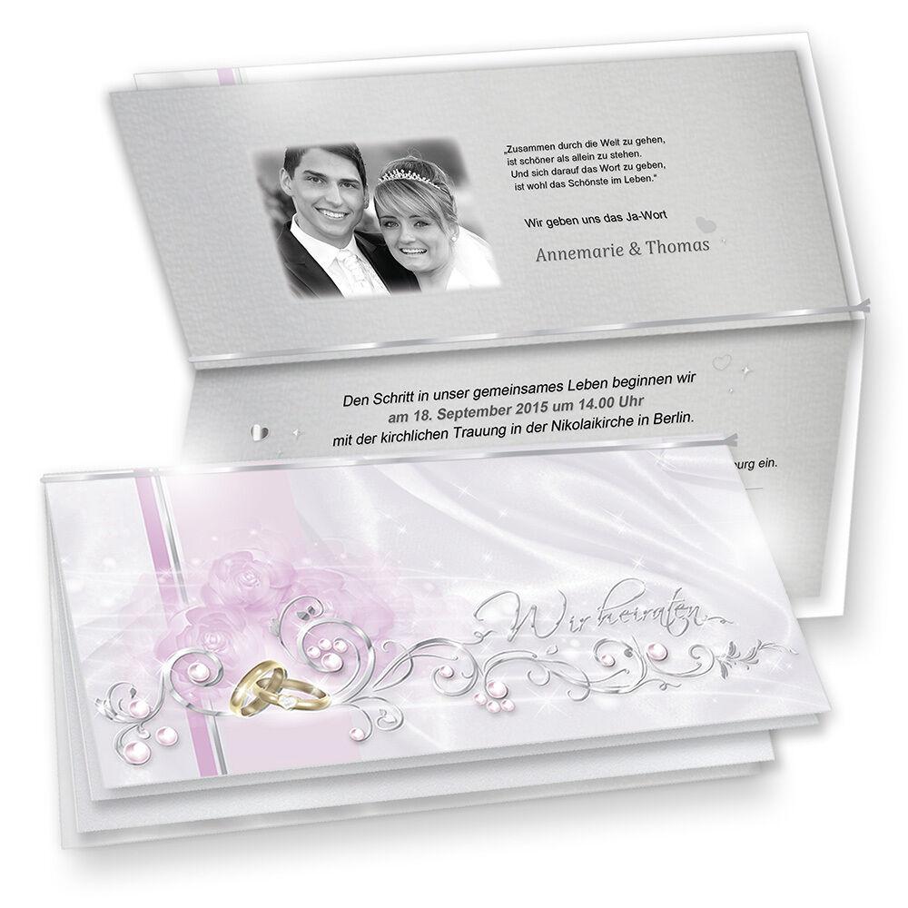 NEU Einladungskarten Hochzeit DE LUXE Einladung selbst bedruckbar Einladungen