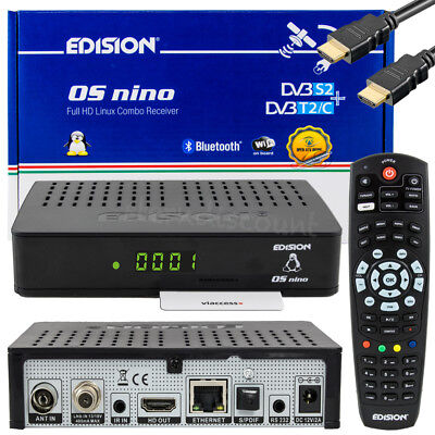 EDISION OS NINO Combo SAT + Kabel Receiver Linux E2 OpenATV HDTV WLAN USB HDMI