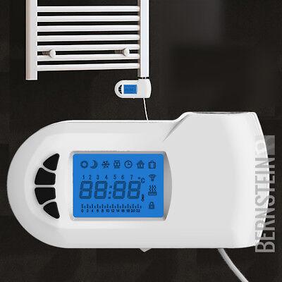 Elektro-badheizkörper (Heizstab elektrisch E700W für Badheizkörper mit digitalem Thermostat in Weiß)