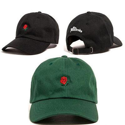The Hundreds Rose Dad Hat Flower Embroidered Curved Brim Baseball Cap Visor - Rose Hat