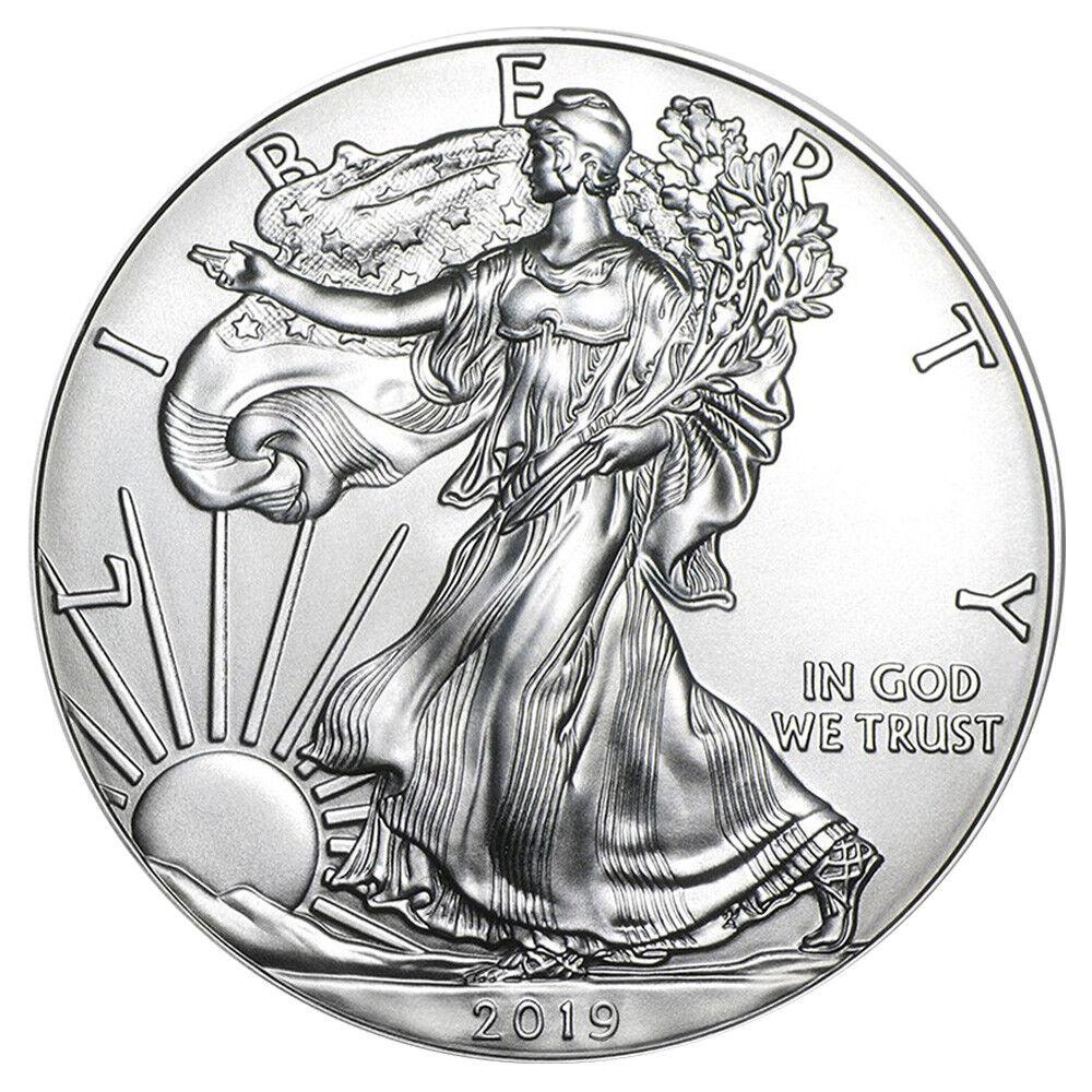 1 oz Silber American Silver Eagle 2019 USA 1 Dollar Silbermünze 999