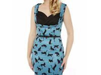 Lindy Bop - Vintage Style Dress Cat Print (Size 12) *New With Tags*
