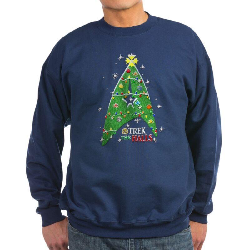 CafePress Trek The Halls Classic Crew Neck Sweatshirt (1208280942)