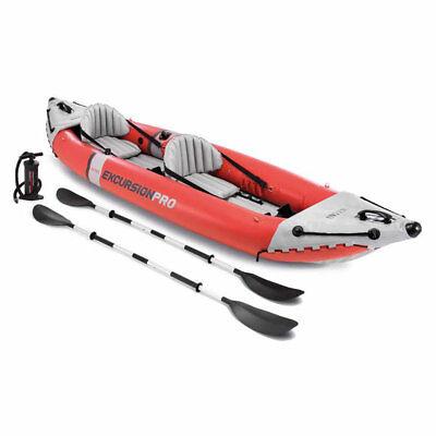 Intex 68309 Excursion Pro Inflatable 2 Person Vinyl Kayak wi
