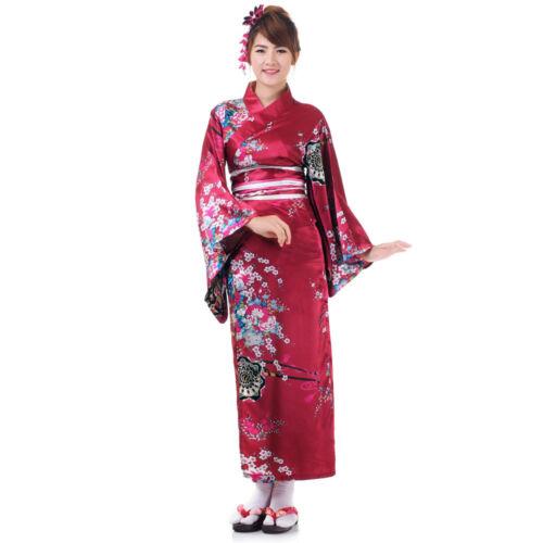 Traditional Japanese Woman Kimono Dress Wedding Robe Geisha Cosplay Costume