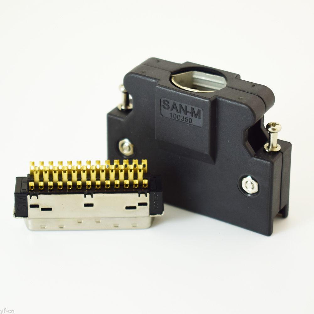 10sets SCSI MDR Connectors 36Pin Replace for 3M 10136-3000PE SCSI servo driver