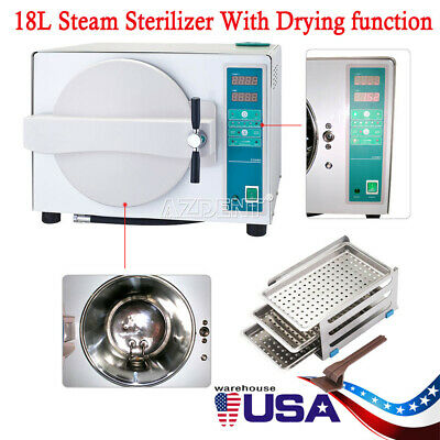 18l Dental Autoclave Steam Sterilizer Dry Heat Sterilizer Drying Function