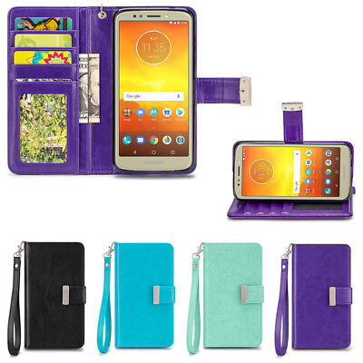 5 Id Wallet Case - IZENGATE ID Wallet PU Leather Flip Case Cover for Motorola Moto E5 Play / Cruise