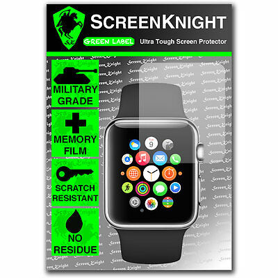 ScreenKnight Apple Watch Series 1 (38MM) SCREEN PROTECTOR Military Shield