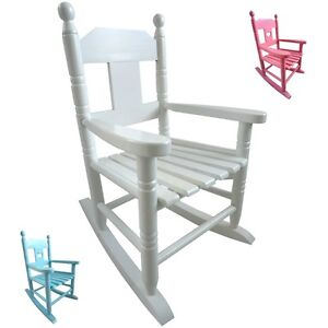 Powell craft childrens wooden rocking chair available in for Small wooden rocking chair for crafts