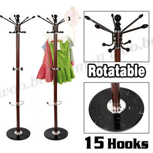 New Traditional Style Metal Coat Hat Umbrella Stand Rack Hang Hanger Marble Base