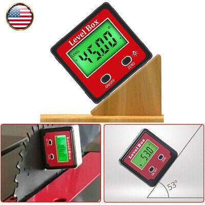 490 Digital Inclinometer Level Box Protractor Angle Finder Gauge Meter Bevel