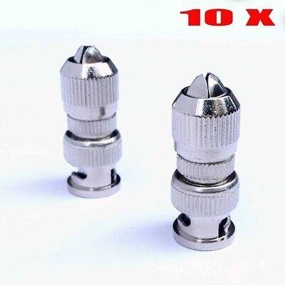 10PCS BNC Screw/Twist on Connector Plug for Coaxial RG6 & RG59 CCTV Camera #HF0 6 Bnc Plug