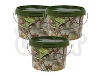 Brand new 5 Litre NGT Round Camo Bucket A camo 5 litre round bucket