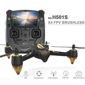 NEW Hubsan H501S-S Brushless Drone+GPS / 5.8G FPV+Monitor / Multiple Flight Modes / Auto Return/ FollowMe / 1080P Camera