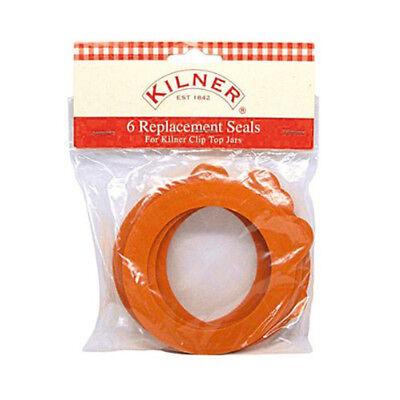 Kilner Clip Top Jar Replacement Seals Pack Of 6 Fits 0.5L to 2L Jars, Preserves