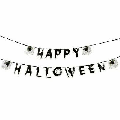 CLEARANCE Skeleton Crew Party Happy Halloween Garland