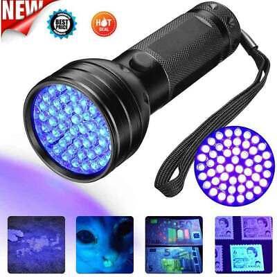 51 Led UV Flashlight BlackLight Ultraviolet Pet Urine Stains Detector Lamp Light