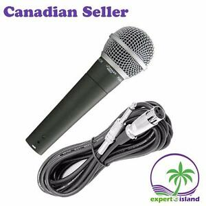PYLEPRO PDMIC58 Great Sounding Moving Coil Microphone, Dynamic Handheld Mic with 15' ft. XLR Cable