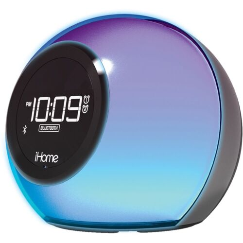 iHome iBT29 Color Changing Dual Alarm Clock Radio With Bluet