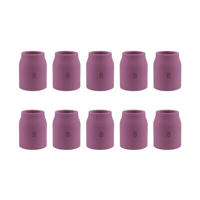 10-pk 53n61s 8 12 Tig Ceramic Gas Lens Cup Nozzle For Welding Torch 92025