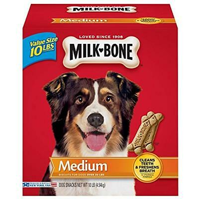 Milk-Bone Original Dog Treats For Medium Dogs Dental Chews Clean Teeth 10-Pound
