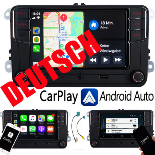 Autoradio RCD330+,MirrorLink,Carplay,Android Auto,BT,USB,RVC,AUX für SKODA 187B