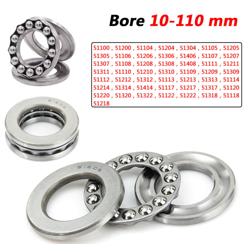 Plane Thrust Ball Bearings Grooved Bearings Bore 10mm to 110mm No.51100 to 51322