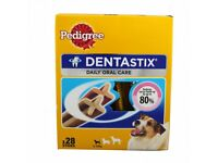 Pedigree DentaStix Dog Chews for Small Dog 28 pk, £4 per box (3 boxes available)
