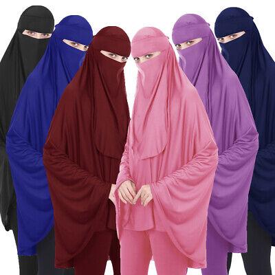 Muslim Long Khimar Hijab Veil Scarf Amira Prayer Abaya Niqab Women Overhead Arab