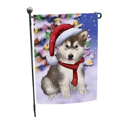 Winterland Alaskan Malamute Dog In Christmas Holiday Garden Flag GFLG53421