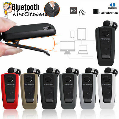 FineBlue F910 Stereo Wireless Bluetooth Clip-on Headset Earphone Vibrating Alert Bluetooth Stereo Headset Clip