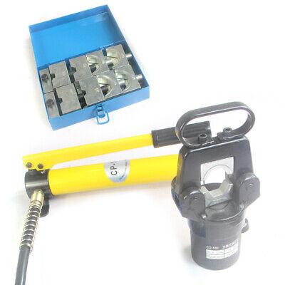 Hydraulic Wire Terminal Crimper Crimping Tool Pliers Cutter W Diespump 20 Ton