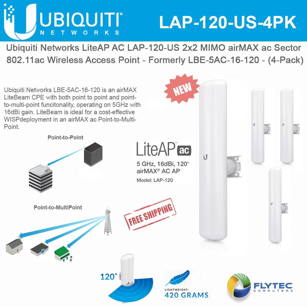 Ubiquiti LiteAP AC LAP-120-US 2x2 MIMO airMAX ac Sector Acce