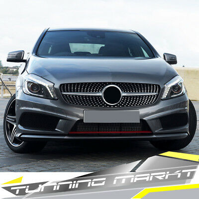 Kühlergrill Diamant Grill für Mercedes Benz A W176 A45 AMG 13-15 vor Modf pz135