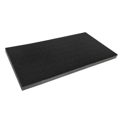 14 x 7-1/2 x 1/2 Black Velvet Foam Ring Insert 72 Slots Jewelry Display Tray