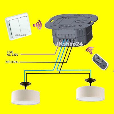FUNK-LICHTSCHALTER+Handsender 2 LED/LAMPEN per Funk schalten