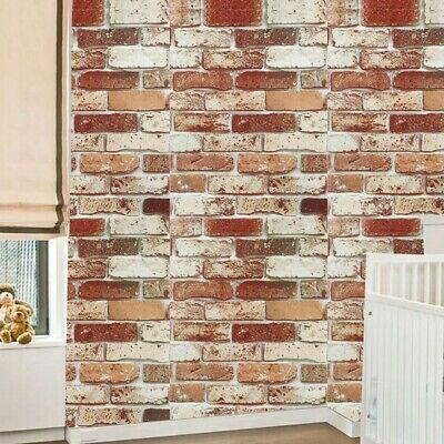 3D Muro Mattone Pietra Carta Rustico Effetto Autoadesivo Adesivo Arredo Casa