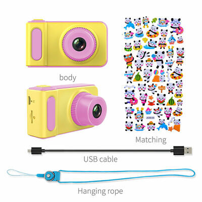 "UK Kids Children's Fun Holiday Digital Camera & Video Camcorder 2.0"" HD - PINK"