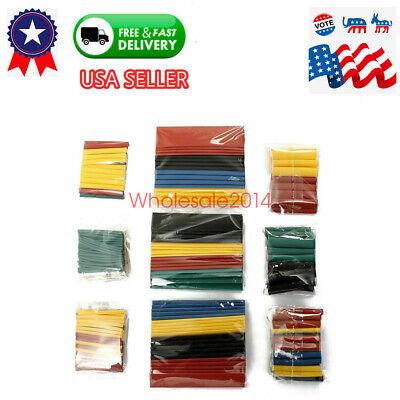 328pcs Polyolefin Heat Shrink Tubing Tube Sleeve Wrap Wire Assortment 8 Size Us