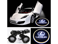 2 x LEXUS 3D COB LED DOOR LOGO COURTESY LIGHT LASER GHOST PROJECTOR SHADOW PUDDLE LAMPS
