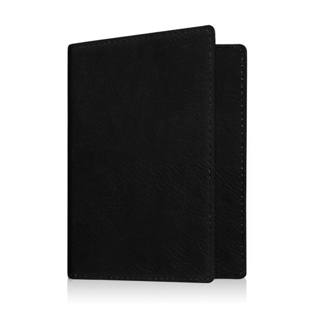 Travel Passport Holder Wallet Holder RFID Blocking Vegan Leather Card Case Cover Vintage Black