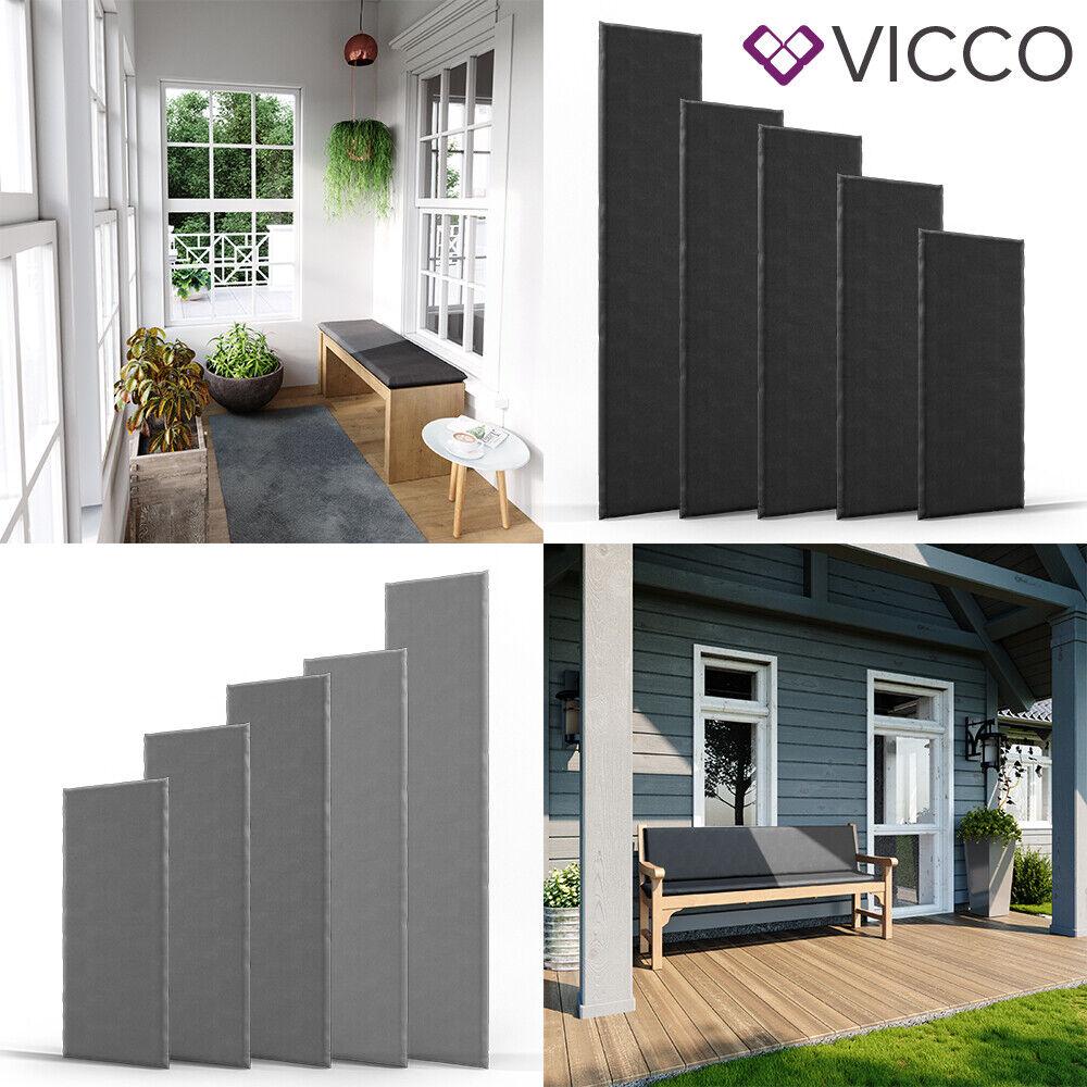 VICCO Bankauflage Bankpolster Sitzauflage für Gartenbank Sitzkissen Bankpolster