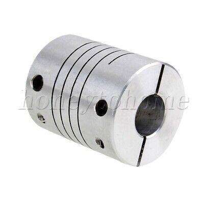 Silver Flexible Shaft Coupling CNC StepperMotor Shaft Coupler Coupling 8mmX10mm