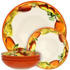 Orange Stoneware Dinnerware Bowls