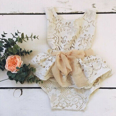 US Cute Newborn Baby Girl Princess Lace Fashion Bow Romper Summer Casual Outfits](Baby Girl Princess Outfit)